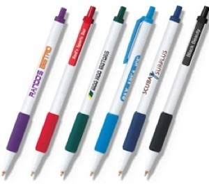 Bic Pen - Clic Stic with Rubber Grip